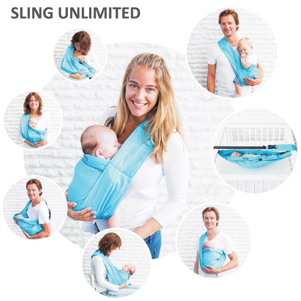 6bff82914eb4 Porte bébé Sling Unlimited gris   Minimonkey